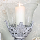 Ornate Candle Holder with Glass