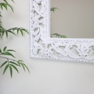 Ornate Carved White Wall Mirror 81cm x 106cm