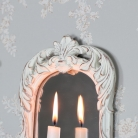 Ornate Cream Mirrored Candle Sconce