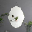 Ornate Frameless Bevelled Wall Mirror