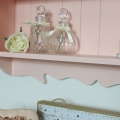 Ornate Pink Wall Shelf Unit