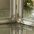 Ornate Silver Dressing Table Triple Mirror