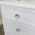 Ornate White 3 Drawer Bedside Chest - Elise White Range