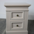Pair of 2 Drawer Grey Bedside Chest Cabinets - Daventry Taupe-Grey Range SECONDS ITEM
