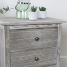 Pair of 3 Drawer Wooden Bedside Tables - Temperley Range - SECOND