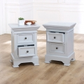 Pair of Grey 2 Drawer Bedside Chests - Daventry Dove-Grey Range