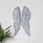 Pair of Grey Angel Wings Wall Art