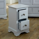 Pair of Grey Bedside Tables - Davenport Grey Range