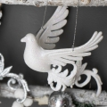 Pair of Hanging Bird Christmas Tree Decorations