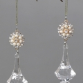 Pair of Jewelled Gold Christmas Tree Droppers