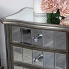 Pair of Mirrored Bedside Tables - Tiffany Range