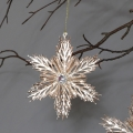 Pair of Rose Gold Snowflake Christmas Tree Decorations
