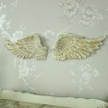 Pair of Small Wall Mounted Cream Angel Wings