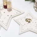 Pair of White Ceramic Star Trinket Dishes
