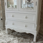 Pays Blanc Range - Antique White Mirrored Closet
