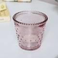 Pink Glass Tealight Holder