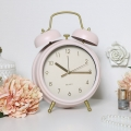 Pink Twin Bell Alarm Clock