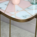 Pink & White Gold Side Table