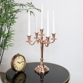 Polished Copper Candelabra