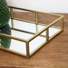 Rectangle Gold Mirrored Tray