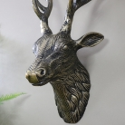 Replica Gold Metal Wall Mounted Stag Head