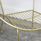 Retro Gold Metal Chair