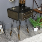 Industrial Style Metal Bedside Table