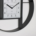 Round Black Clock Shelving Display