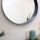 Round Black Framed Mirror 50cm x 50cm