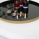 Round Black & Gold Metal Display Tray
