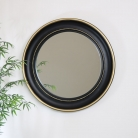 Round Black & Gold Wall Mirror 90cm x 90cm