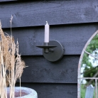 Round Black Metal Wall Candle Holder