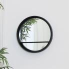 Round Black Mirrored Shelf Unit