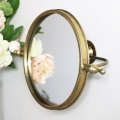 Round Gold Adjustable Wall Mirror