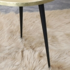 Round Gold & Black Side Table