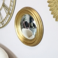 Round Gold Convex Mirror