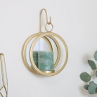 Round Gold Mirrored Candle Sconce