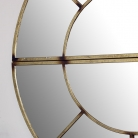 Round Gold Sectional Wall Mirror