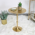 Round Gold Side Table