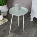 Round Green Side Table