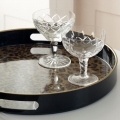 Round Leopard Print Serving Tray