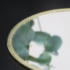 Round Mirrored Gold Display Plate Tray