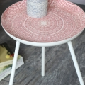 Round Pink Side Table
