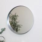 Round Silver Framed Mirror 50cm x 50cm