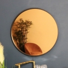 Round Smoked Copper Wall Mirror 74cm x 74cm