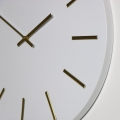 Round White & Gold Wall Clock