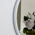 Round White Wall Mirror 50cm x 50cm