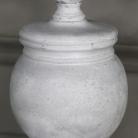 Rustic Antique White Table Lamp