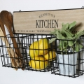 Rustic Basket Wall Storage