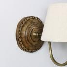 Rustic Beige Linen Wall Light